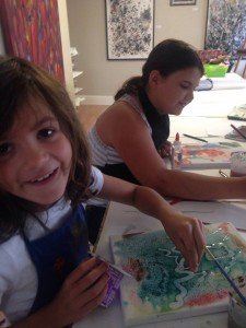 "Sisters enjoying their ""Art Rocks Summer Camp!"